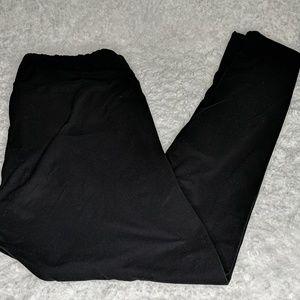 Lularoe Black Tall and Curvy Leggings